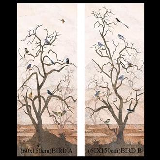 Decorative Wall Tile Set (60X150) BIRD AB
